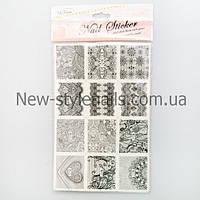 Кружево для дизайна ногтей (Черные) в ассортименте, фото 1
