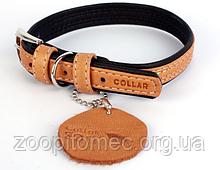 Collar ошийник Soft 15 мм 27-36 см Коричнево-чорний