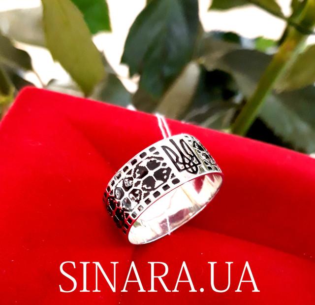 Каблучка з Тризубом - Кольцо Тризуб серебро - Тризубец кольцо Герб Украины фото 4