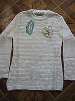 Детские теплые вязаные  свитера-туники  Бабочка  для девочек 7-10 лет Турция