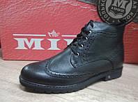 Стильные зимние мужские ботинки Мида 14973 из натуральной кожи.