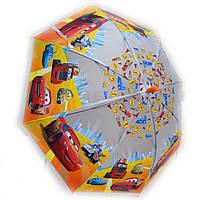 Зонт трость силикон Тачки