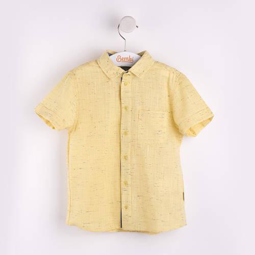 Рубашка льняная для мальчика РБ78 Лето 2017 Бемби