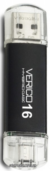 USB флешка Verico USB 2.0 16Gb Hybrid Classic Black