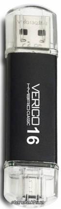 USB флешка Verico USB 2.0 16Gb Hybrid Classic Black, фото 2