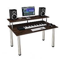 """Стол для студии звукозаписи """"StudioDesk"""". Высота ножек: 82 см./Хром"""