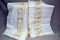 Полотенце банное Gulcan для крещения ребёнка - крыжма (Велюр-Махра 100% хлопок) 70х140  - Турция krug-01