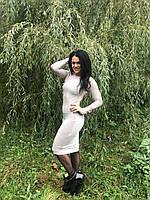 Длинное женское Платье-гольф