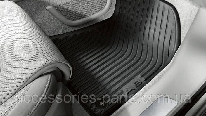 Коврики в салон резиновые Audi A8 D4 2009+ Новые Оригинальные