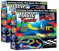 Детский светящийся гибкий трек Magic Tracks: 220 деталей (светящаяся дорога с машинкой Меджик Трекс)