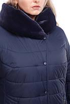 Зимний пухвовик большие размеры с капюшоном манишка кролик и песец размеры 48-60, фото 3