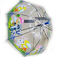 Зонт детский прозрачный грибочек