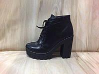 Женские демисезонные ботинки из натуральной кожи и замши размеры-36-41