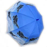 Зонт трость для мальчика силиконовый Истребитель