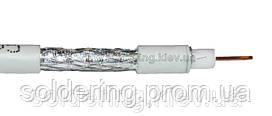 Кабель антенный Commspace RG-6, 32% алюминий, белый, 100 м