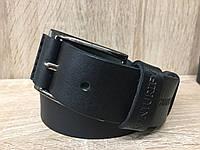 Мужской кожаный ремень Cinturify под джинсы, длина 105-125 см. Черный