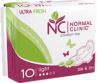 Normal Clinic Comfort ultra fresh Крит. прокладки silk&dry - 3 капли, 240 мм