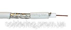 Кабель антенный Commspace RG-6, 48% алюминий, белый, 100 м