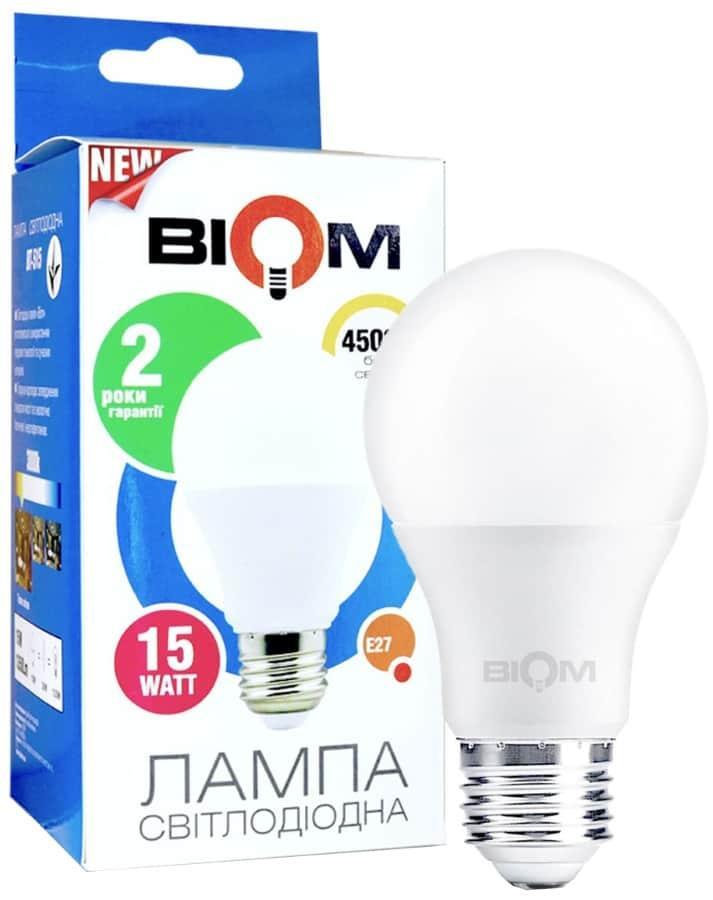Светодиодная лампа Led Biom BT-516 A65 15W E27 4500K