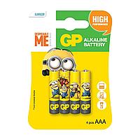 Батарейки AAA (LR03) GP Ultra Minions - 4шт., фото 1