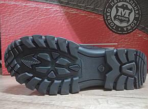 Прорезиненyые мужские ботинки  МИДА 14734 из натуральной кожи, фото 2