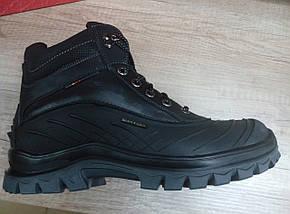 Прорезиненyые мужские ботинки  МИДА 14734 из натуральной кожи, фото 3