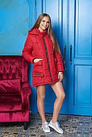 Зимняя красная куртка-парка М-705 Arizzo 46-56 размер