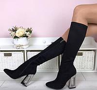 Сапоги женские в стиле Dior Декоративный каблук