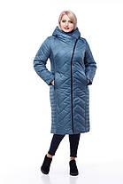 Длинный зимний пуховик большие размеры с капюшоном  размеры 48-60, фото 3