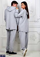 Спортивный мужской костюм серый без креста на спине . Арт-13010