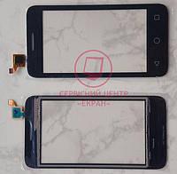 Alcatel 4013d One Touch Pixi 3 сенсорний екран, тачскрін чорний