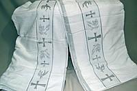 Полотенце банное Gulcan для крещения ребёнка - крыжма (Велюр-Махра 100% хлопок) 70х140 - Турция krug-03