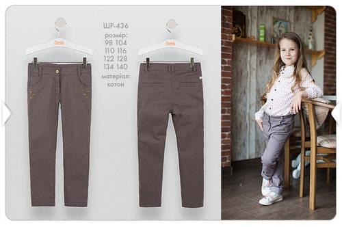 Коттоновые брюки для девочки ШР436 Бемби