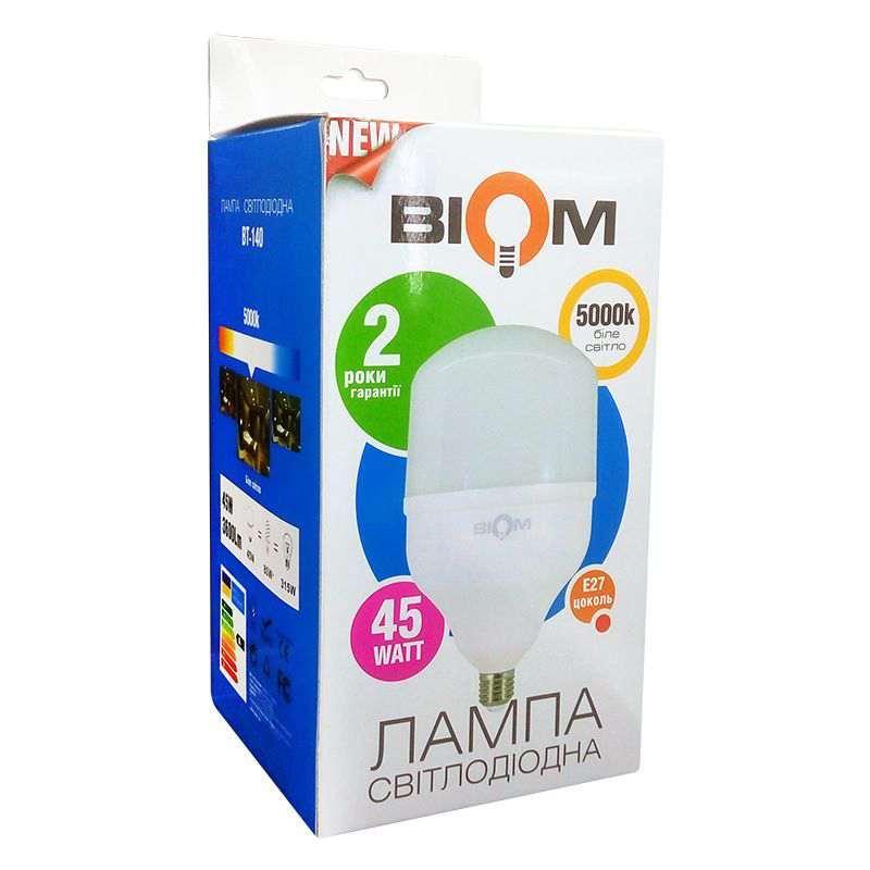 Светодиодная лампа Led Biom BT-140 T140 45W E27 5000K