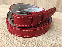 Женский кожаный ремень Cinturify под джинсы, длина 105-125 см. Красный