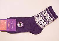 Теплые женские носки полушерстяные фиолетового цвета