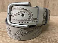 Ремень джинсовый Cinturify 105-125 см. беж A2D0098