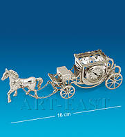 "Фигурка с часами ""Карета с лошадью"" посеребр. (Юнион) AR-1309/ 2"