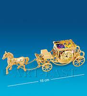 "Фигурка с часами ""Карета с лошадью"" (Юнион) AR-1309/ 1"