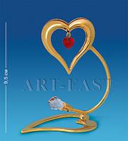 """Держатель для визиток """"Сердечко"""" 9x4,5x9,5 см., Crystal Temptations, США"""