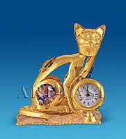"Фигурка с часами ""Кошка на подушке"" с цв.кр. (Юнион) AR-3746/ 6"