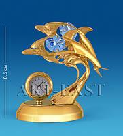 """Фигурка с часами """"Дельфины"""" (Юнион) AR-4397/ 5"""
