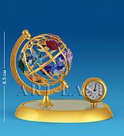 "Фигурка с часами ""Глобус"" бол. с цв.кр. (Юнион) AR-4357/ 6"