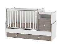 Кровать-трансформер Lorelli TREND PLUS NEW COLOUR WHITE/COFFEE + матрас