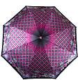 Женский зонт автомат ТРИ СЛОНА RE-E-113C-1, розовый, антиветер, фото 2