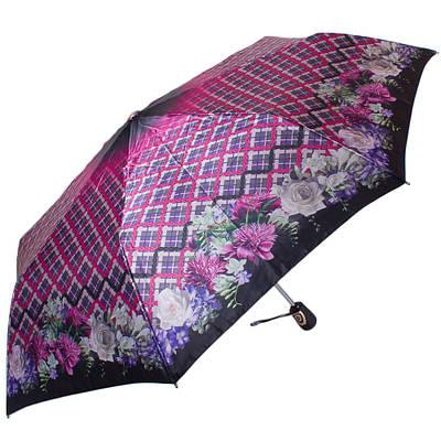 Женский зонт автомат ТРИ СЛОНА RE-E-113C-1, розовый, антиветер
