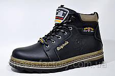 Кожаные ботинки Splinter, с мехом (Black), фото 2