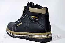 Кожаные ботинки Splinter, с мехом (Black), фото 3
