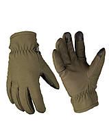 Перчатки утеплённые SOFTSHELL HANDSCHUHE СЕНСОРНЫЕ THINSULATE ОЛИВА