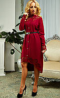 Женское платье с очень красивой перфорацией на линии ключиц